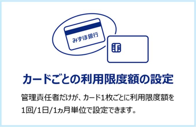 カードごとの利用限度額の設定